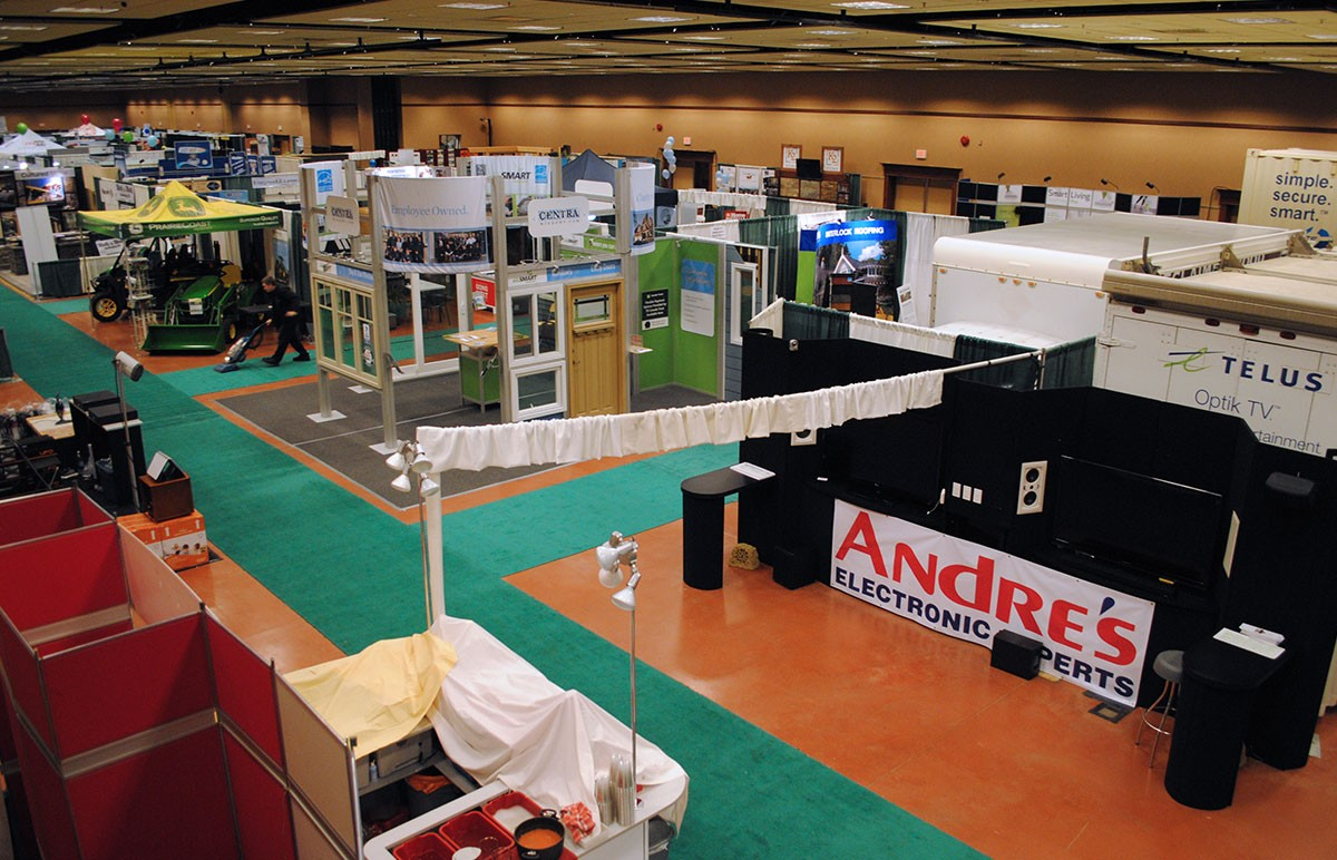 CHBA Home and Reno Show trade show set up