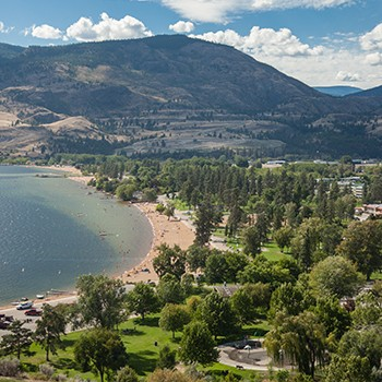 Skaha Beach and Park Aerial View