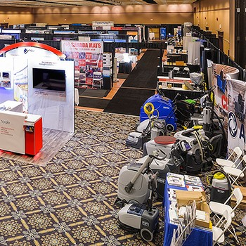 Educational Facility Managers association trade show view