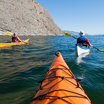 Kayaking on Okanagan Lake
